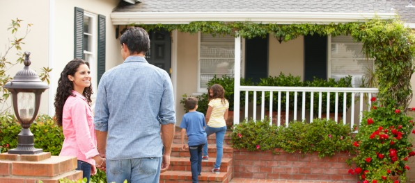 family owning a house